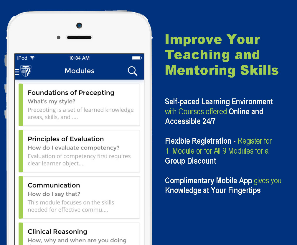 Preceptor Training, improve your teaching and mentoring skills